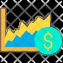 Dollar Graph Graph Report Icon