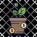 Dollar Growth Pot Icon
