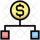 Dollar Hierarchy Structure Connection Icon