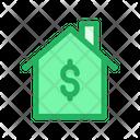 Home House Dollar Symbol Icon