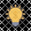 Dollar Idea Blub Light Icon