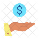 Dollar In Hand Icon
