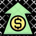 Dollar Increase Dollar Up Arrow Increase Arrow Icon