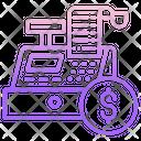 Dollar Invoice Till Supplier Cash Register Icon