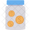 Bottle Jar Cash Icon