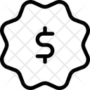 Dollar Label Icon