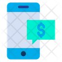 Mobile Chat Dollar Chat Icon