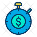 Dollar Time Timer Dollar Earning Management Icon