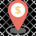 Dollar Map Pin Icon