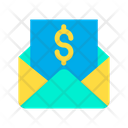 Dollar Message Mail Icon