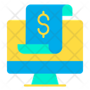 Dollar Monitor Online Payment Online Slip Icon