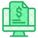 Monitor Dollar Document Finance Document Icon