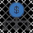 Dollar Network Sharing Icon