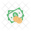 Dollar Note And Coin Dollar Budget Icon