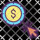 Dollar Pay Per Click Icon