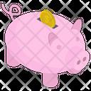 Dollar Piggy Bank Icon