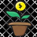 Dollar Plant Money Growth Financial Growth Icon