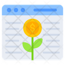 Dollar Plant Sprout Growth Web Plant Icon