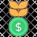 Money Plant Dollar Plant Investment Growth Icon