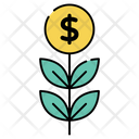 Dollar Plant Money Plant Investment Growth Icon