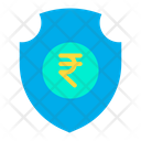 Secure Rupees Rupees Security Protected Rupees Icon
