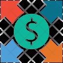 Dollar Ratio Market Icon