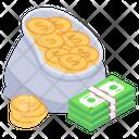 Wealth Dollar Sack Dollar Pouch Icon