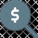 Dollar Search Icon