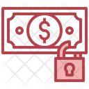 Dollar Security Cash Security Money Lock Icon