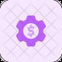 Dollar Setting Icon