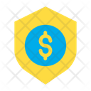 Dollar Shield Secure Money Icon