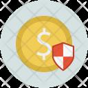 Dollar Shield Safe Icon