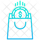 Dollar Shopping Bag Dollar Coin Icon