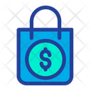 Shopping Bag Dollar Sign Hand Bag Icon