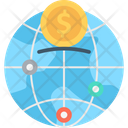 Dollar Sign Global Business Globe Icon