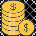 Dollar Stack Dollar Coins Dollar Icon