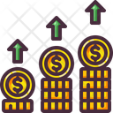 Dollar Stack Up Icon
