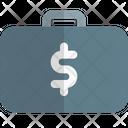 Dollar Suitcase Icon