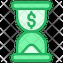 Dollar Time Icon