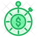 Dollar Time Budget Icon