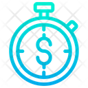 Stopwatch Timer Dollar Icon