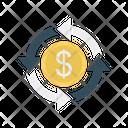 Dollar Transfer Money Icon
