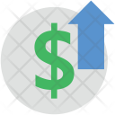 Dollar Up Sign Icon