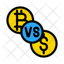 Bitcoin Dollar Cryptocurrency Icon