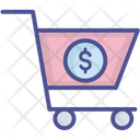 Dollar With Cart Icon
