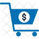 Dollar With Cart Add To Cart Business Tools Icon
