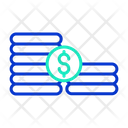 Mcoins Stack Dollars Dollar Coins Icon