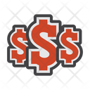 Dollars Money Coins Icon