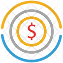Dollars Circular Sign Icon