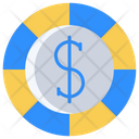 Dollars Coin Icon